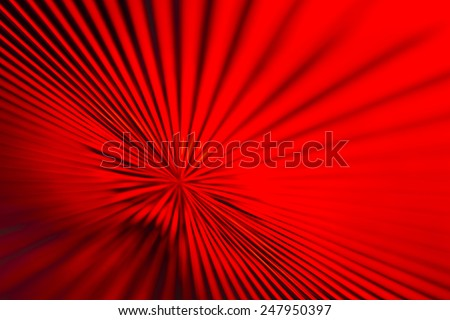 Red Glass Zoom Lines - stock photo