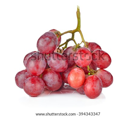red grape isolated on white . - stock photo