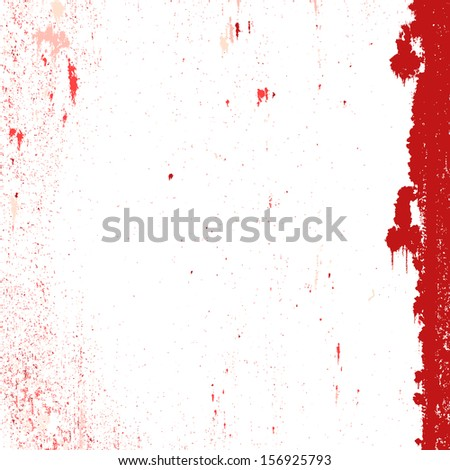 Red grunge stained background on white.  - stock photo