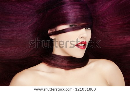 Red Hair fashion portrait - stock photo