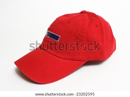 Red hat in a white back - stock photo
