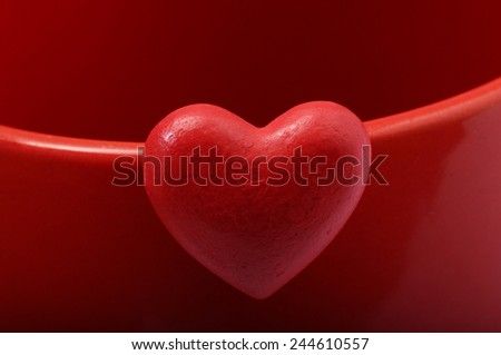 Red heart for love and valentine's day celebration - stock photo