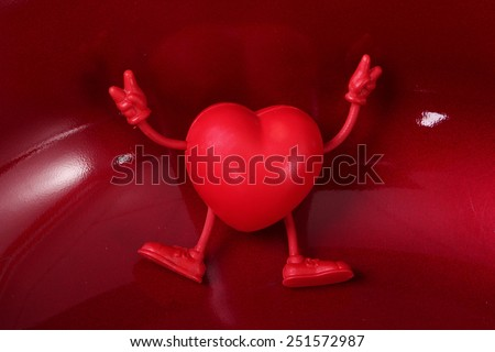 red heart, health, valentine's day - stock photo
