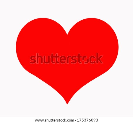 Red heart on a white background  - stock photo