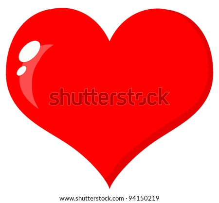 Red Heart .Raster illustration .Vector version is also available - stock photo