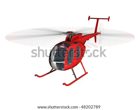 red Helicopter - stock photo