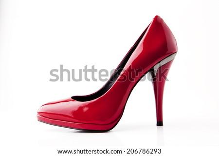 Red high heel - stock photo