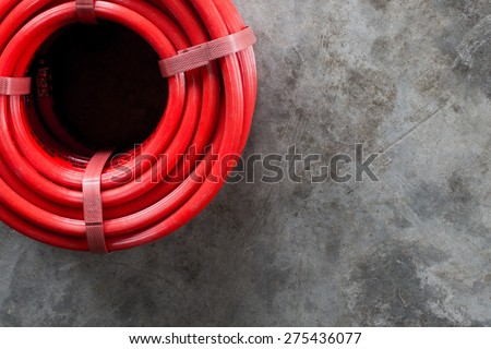 Red hose - stock photo