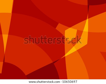Red hot abstract shapes make up this great fractal background. - stock photo