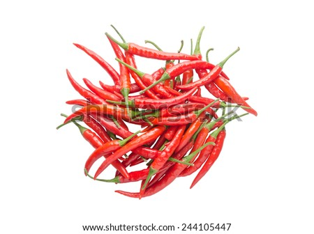 Red hot chili pepper isolated on white background - stock photo