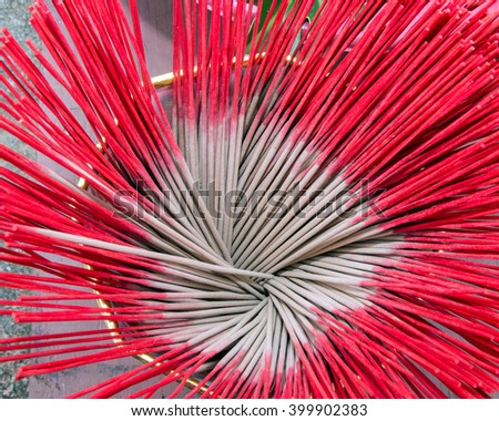 red incense - stock photo
