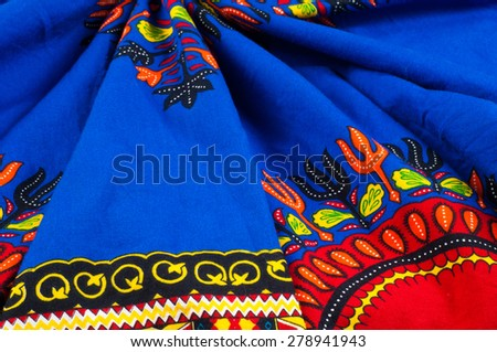 Red Indian. fabric texture. tissue, textile, cloth,  material,  - stock photo