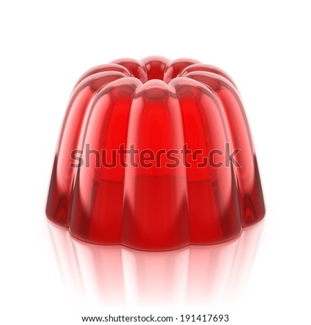 red jelly pudding  - stock photo