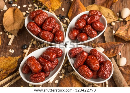 Red jujube isolated - stock photo