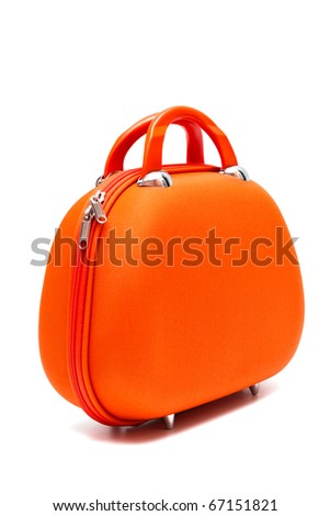 red large bag on a white background - stock photo