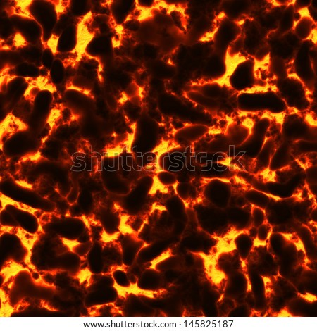 red lava texture with cracks - stock photo