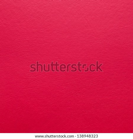 Red leather as a detailed square background image - stock photo