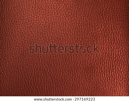 Red Leather texture close-up - stock photo