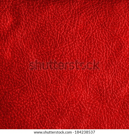 red leatherette - stock photo