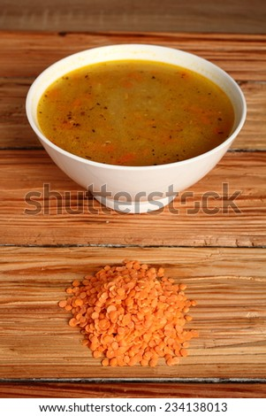 Red Lentils Soup - stock photo