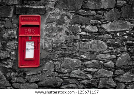 Red Letterbox - stock photo