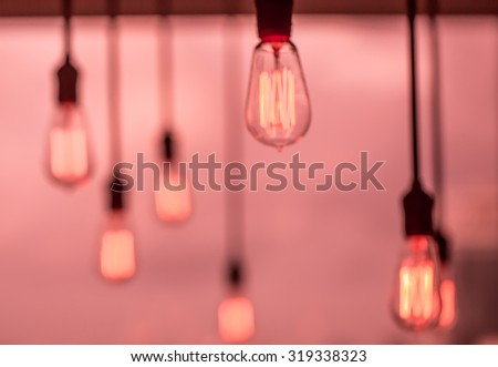 Red light blub - stock photo