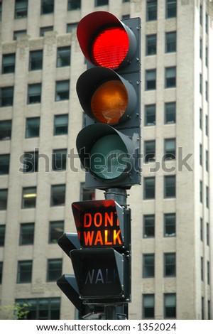 Red Light - Don't Walk - stock photo