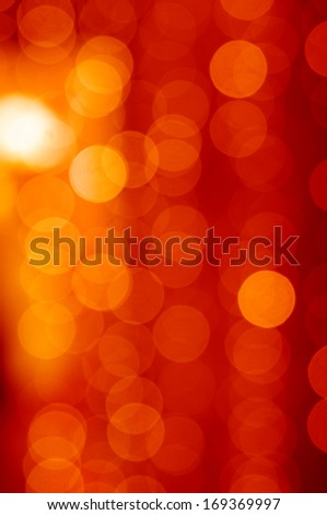 Red lights bokeh background - stock photo