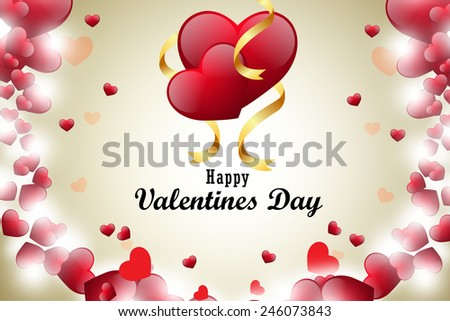 red love heart, valentines day concept - stock photo