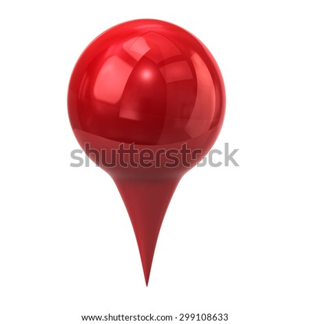 Red map marker, map pin  - stock photo