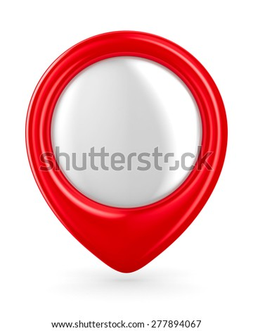 Red marker on white background. Isolated 3D image - stock photo