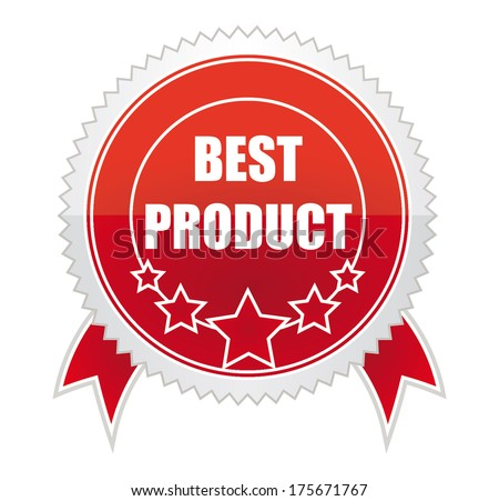 red medal best product - stock photo