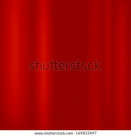 Red metal background (texture of  aluminum sheet) - stock photo