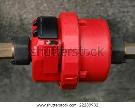 red meter valve - stock photo