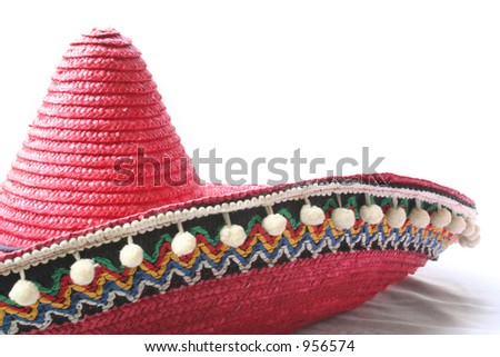 Red Mexican hat - stock photo