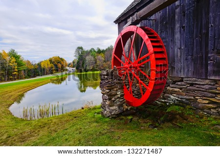 Red Mill - stock photo