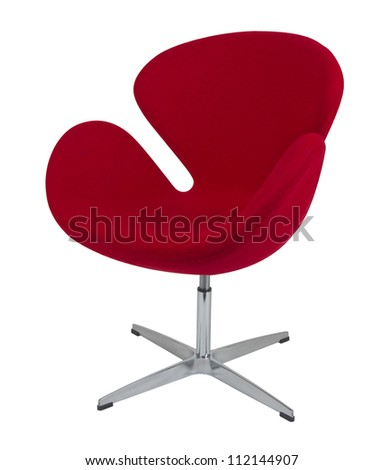 red modern chair - stock photo