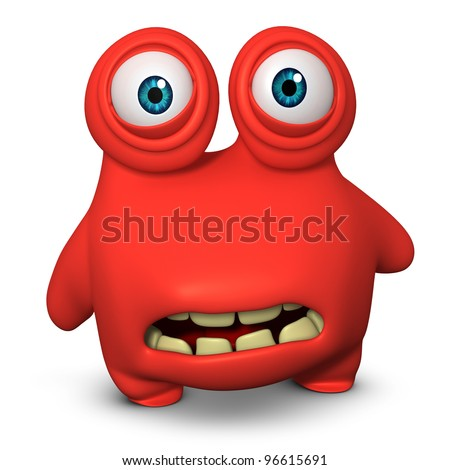 red monster - stock photo
