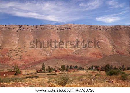 Red mountains - stock photo
