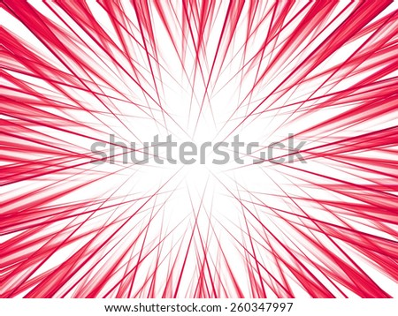 red on white abstract fantasy fractal lines background - stock photo