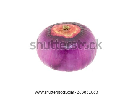 Red onion isolated on white background - stock photo