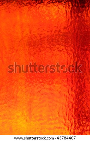 red orange sunny textured glass - stock photo
