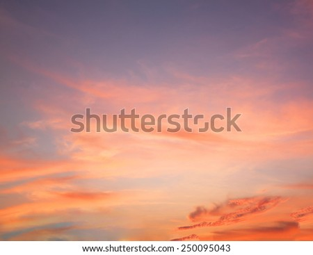 Red Orange Sunset clouds - stock photo