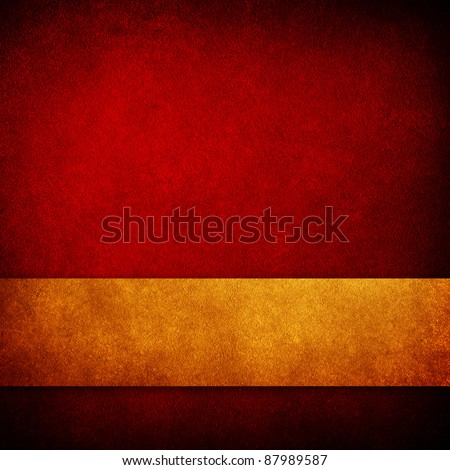 red paint background with strip - stock photo