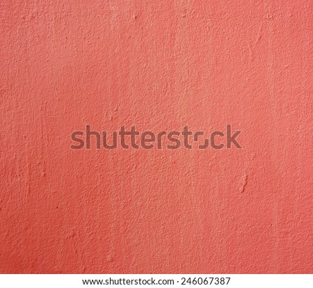 red paint texture of cement wall for background - stock photo