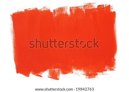 Red painted wall - stock photo