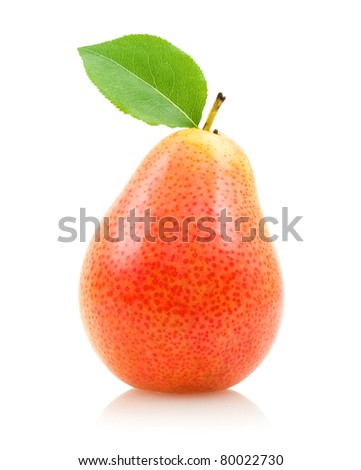 red pear - stock photo