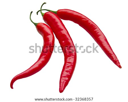 red pepper chile for seasoning to dinner - stock photo