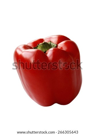 Red pepper isolated over white background - stock photo