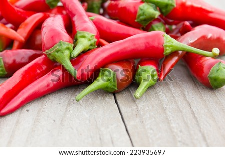 red pepper on board/spices/red pepper - stock photo
